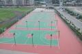 江西萍鄉硅PU塑膠籃球場造價贛州硅PU球場面層施工