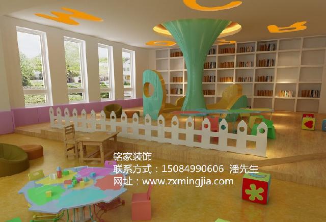 湖南长沙天心区个性幼儿园色彩装修设计