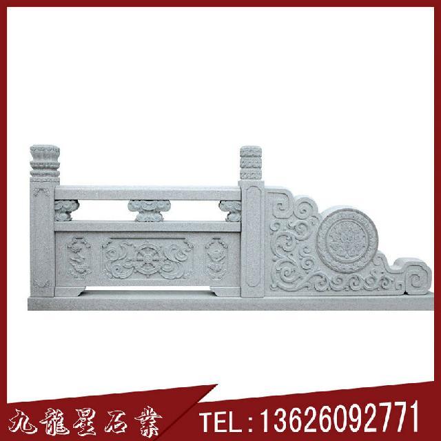 石雕护栏 桥梁石栏杆 古建筑青石栏杆