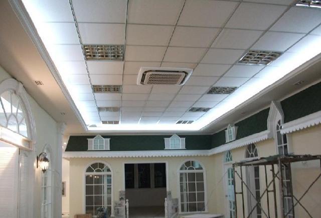 正规松江高端厂房石膏板吊顶装修施工车墩办公室装修施工