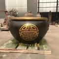 寺廟銅缸 銅雕家居水缸青銅聚寶盆唐縣銅雕廠