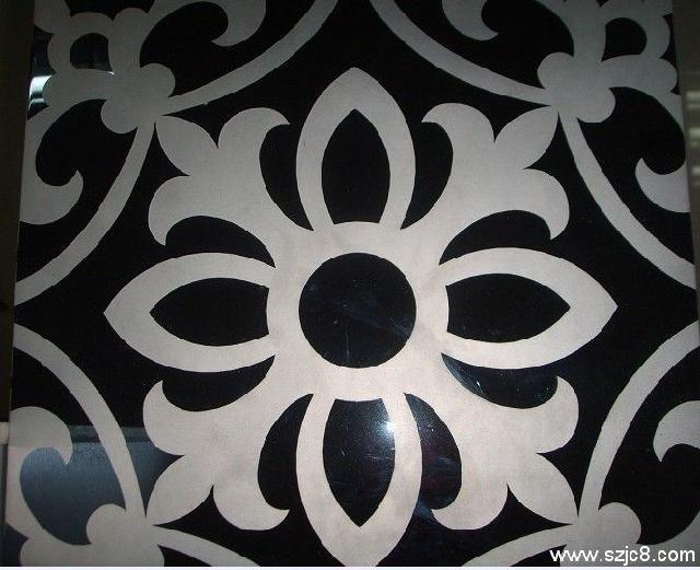 彩色不锈钢卫浴板黑色欧式花纹