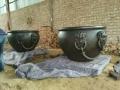仿古大缸純銅荷花盆 鑄銅缸雕塑擺件