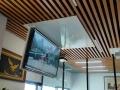 智能遙控隱藏電視機天花加大翻轉器 電動折疊電視吊架5