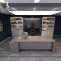 供应各种办公家具 大班桌 板式老板台 时尚钢架大班台