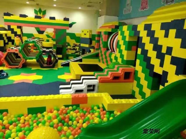 大型韩国进口乐高积木城堡室内儿童乐园厂家梦航玩具