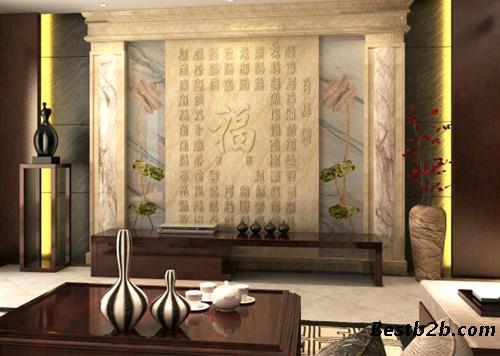 天然大理石背景墙大理石背家装整体搭配大理石水刀全