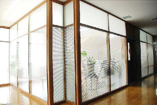 不锈钢玻璃隔断报价百叶隔断定制效果图