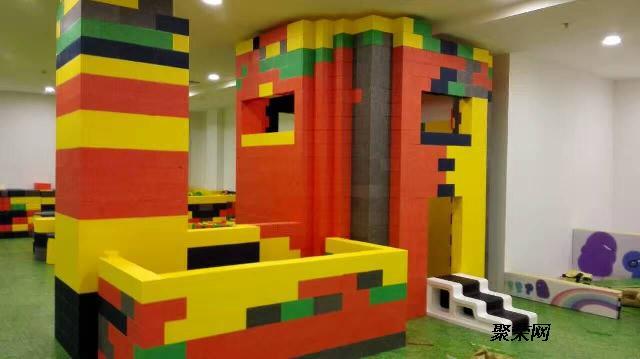 口大型乐高积木城堡室内儿童乐园厂家加盟梦航玩具