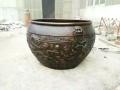 園林別墅裝飾仿古工藝禮品擺件紫銅大缸