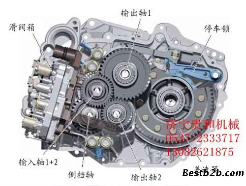 手动变速箱是通过驱动轴带动不同组合的齿轮达到变速的效果;自动变速