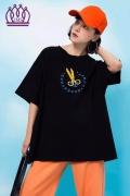 JMS潮牌T恤夏季時尚女式上衣品牌折扣女裝尾貨批發