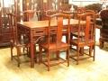 淺談仿古大紅酸枝餐臺家具雕刻工藝