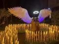 網紅打卡點發光翅膀出租燈光展出租天使翅膀出租出售