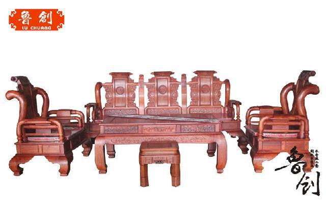 东阳红木家具市场鲁创红木家具-缅花