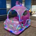 廣場上的夢幻公主車才是真正吸引小公主的電動發光碰碰車