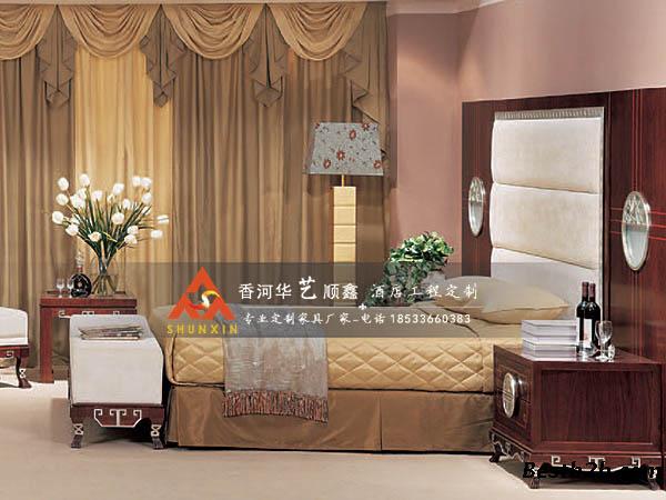 酒店宾馆套房家具 星级酒店家具定制 华艺顺鑫酒店家具设计