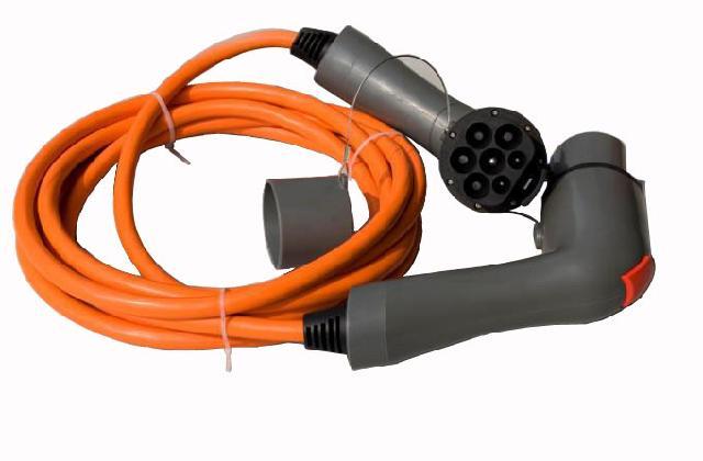 电工电气 充电器 应急充电器     电动汽车交流连接器充电双插头(双枪