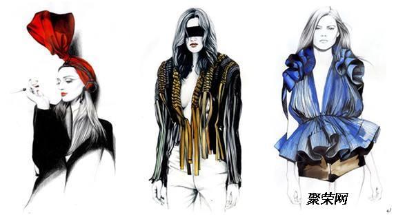 平面设计与服装: 掌握服饰表现中点,线,面是最基本的构成元素,构图的