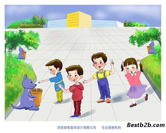 中国梦儿童插画