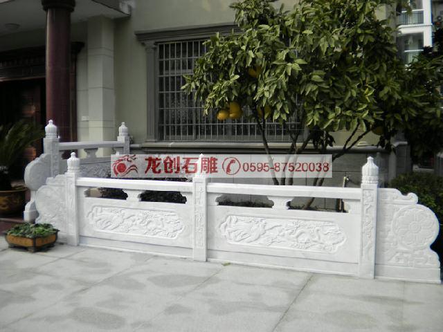 芝麻白石栏杆,芝麻白石栏杆等常用石料石栏杆
