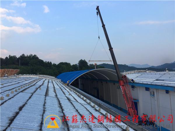 彩钢拱形屋顶结构在国内出