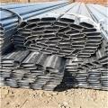 鋅鋼護欄用鍍鋅扁圓管生產廠家
