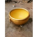 鑄造銅大缸雕塑 獸首拉環大銅缸 祥獅銅雕工藝品