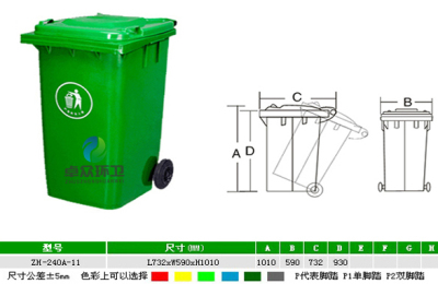 潍坊卓众低价供应环卫垃圾桶