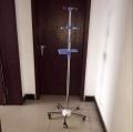 贵州厂家直销医院落地式输液架不锈钢伸缩输液架定制