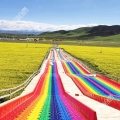 五彩繽紛的七彩滑道 網紅景區必備滑道 彩虹滑道