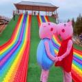 最長網紅彩虹滑道打造廠家 夢幻滑道 炫彩游樂設備