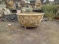 黃銅花缽雕塑 純銅花盆擺件 唐縣鑄造