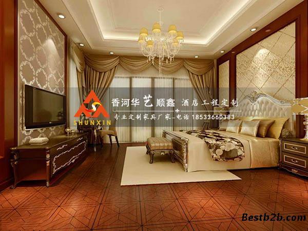 欧式酒店套房家具-奢华高档酒店宾馆家具-华艺顺鑫tf