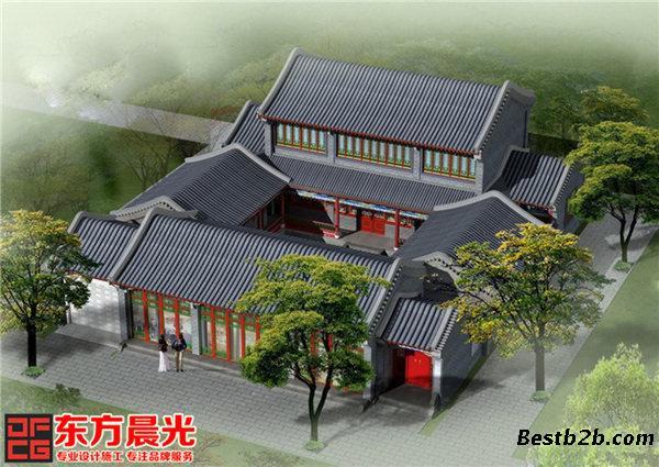中式四合院建筑设计古雅悠悠