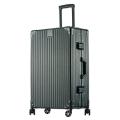 廠家生產批發復古鋁框拉桿行李箱萬向輪旅行箱密碼箱