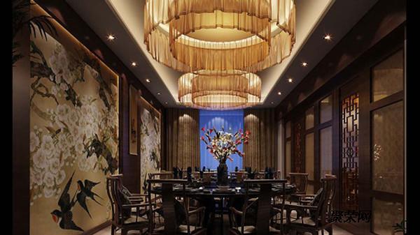 中餐墙面手绘素材