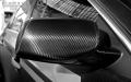 碳纤维罩倒车后视镜装饰框可定制广州柏霖碳纤维汽车改装配件