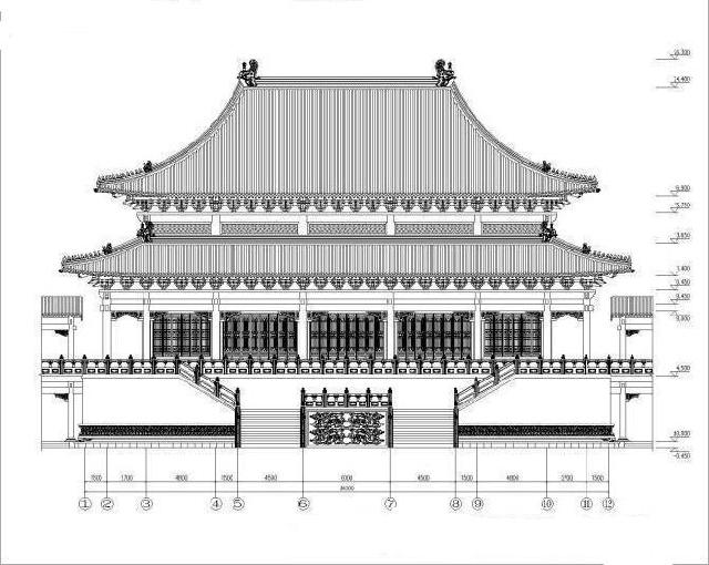 古建阁楼平面图手绘