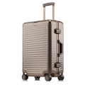 工廠生產直銷PC鋁框拉桿箱萬向輪行李箱密碼箱旅行箱