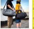 定做運動包加印LOGO 帶鞋位健身包 單肩行李包