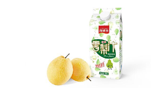 雪梨汁包装设计,果汁冷饮包装设计