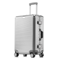 廠家生產時尚PC鋁框拉桿箱萬向行李箱萬向輪男女密碼箱