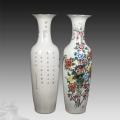 手繪青花落地大花瓶1.8米2米3米酒店裝飾品