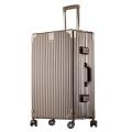廠家生產批發復古鋁框拉桿箱萬向輪行李箱男女密碼旅行箱