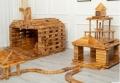 戶外木質游樂設備 兒童戶外大型防腐炭燒積木 大型防腐