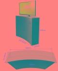 盒式曲面液晶屏升降器 27 32 34寸隱藏會議桌智