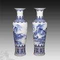 落地1.8米大號花瓶瓷器擺件現代中式酒店