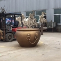 口徑1.2米純銅大缸門口擺件鑄造青銅大缸現貨