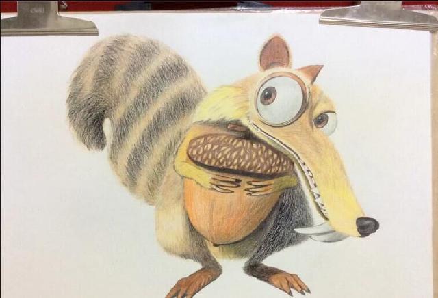 素描动画片动物